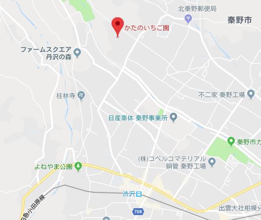 かたのいちご園の地図