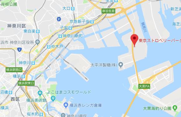 東京ストロベリーパーク アクセスマップ